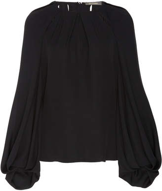 Zac Posen Silk Cut Out Full Sleeve Blouse