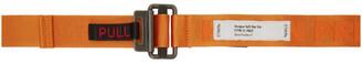 Heron Preston Orange KK Tape Belt