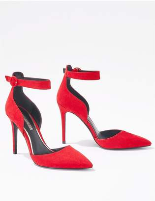Miss Selfridge Ankle Strap Court Shoe - Red