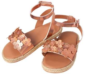 Crazy 8 Iridescent Floral Sandals