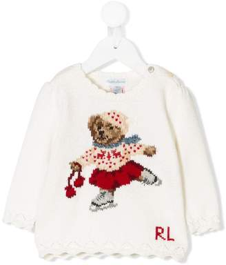 Ralph Lauren Kids Holiday Bear jumper