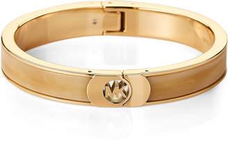 Michael Kors Gold-Tone Horn Fulton Bracelet