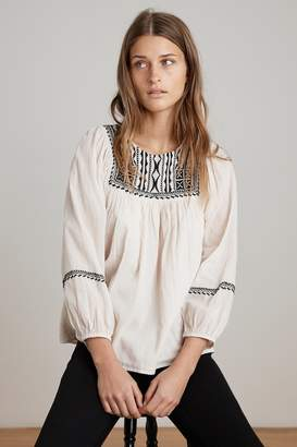 Velvet by Graham & Spencer VANNA EMBROIDERED COTTON GAUZE TOP