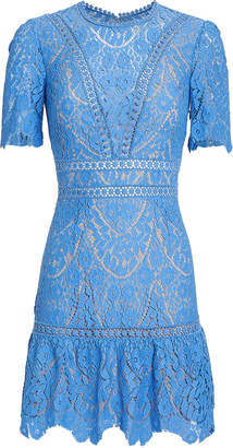 Saylor Darian Blue Lace Dress