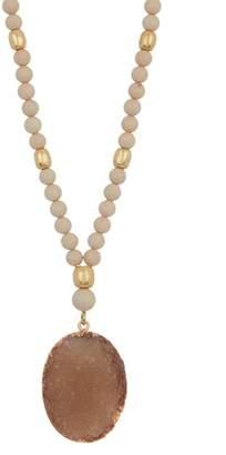 Lucky Brand Druzy Oval Pendant Necklace