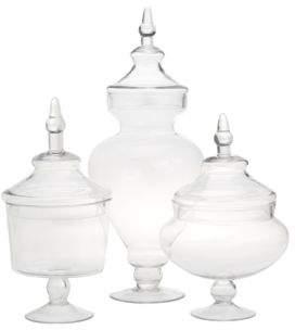 Twos Company Two's Company Chateau Botanical Jars/Set of 3
