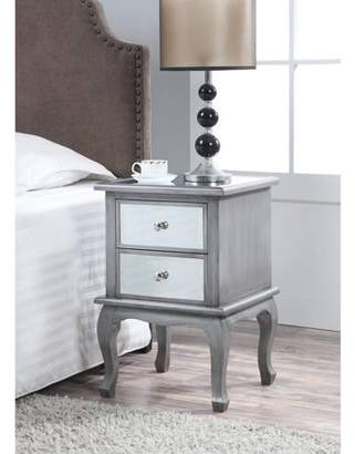 Convenience Concepts Gold Coast Mirrored End Table, Multiple Colors