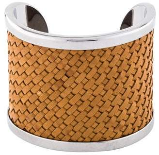 Michael Kors Leather Woven Cuff