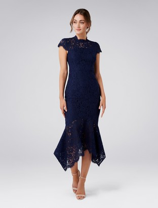 Forever New Frankie Lace Maxi Dress - Navy - 4