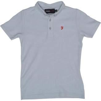 Farah Jeans Boys Blaney Short Sleeve Polo Pastel Blue Marl