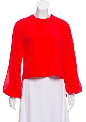 Robert Rodriguez Long Sleeve Ruffle-Trimmed Blouse