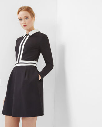 Colour block collared dress $295 thestylecure.com