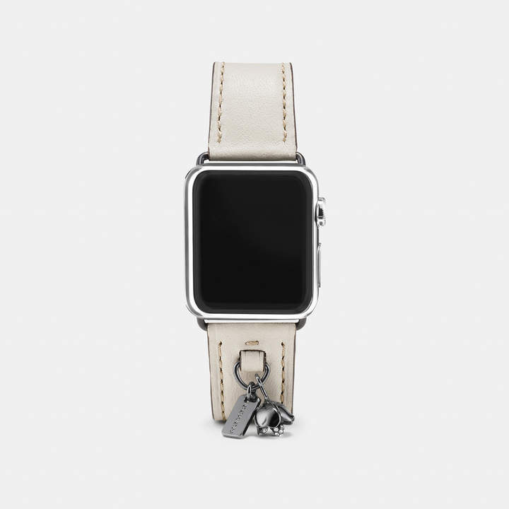 Coach  COACH Coach Apple Watch Leather Watch Strap With Charms