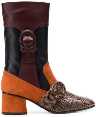 Coach patchwork boots