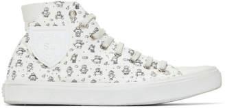 Saint Laurent White Robot Bedford Sneakers