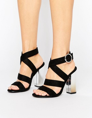 Truffle Collection Strappy Block Heel Sandal $45 thestylecure.com