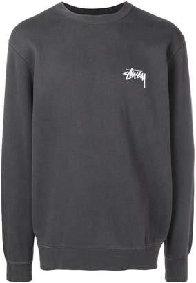 Stussy back logo print hoodie