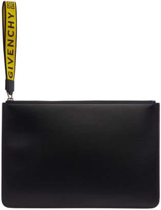 Givenchy Black 4G Logo Webbing Pouch
