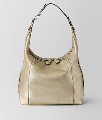 Bottega Veneta LARGE MI-NY BAG IN METALLIC CALF