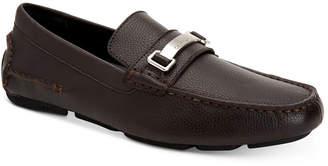 Calvin Klein Men Mikos Tumbled Leather Drivers Men Shoes