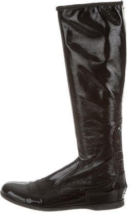 Miu Miu Miu Miu Patent Leather Boots