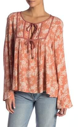 O'Neill Lyndie Floral Print Tie Top