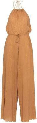 A Peace Treaty Sola halterneck lurex cotton blend jumpsuit