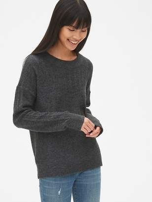 Gap Lacy Pointelle Crewneck Pullover Sweater