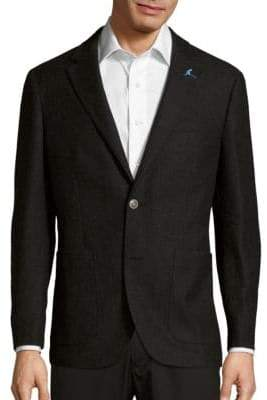 Tailorbyrd Logo Embossed Woolen Jacket