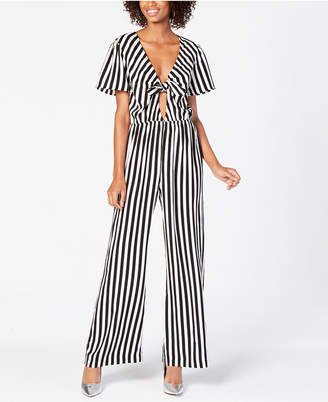 Material Girl Juniors' Front-Tie Jumpsuit