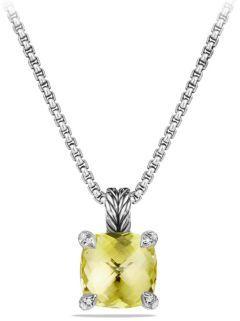 David Yurman Chatelaine Pendant Necklace with Lemon Citrine and Diamonds $650 thestylecure.com
