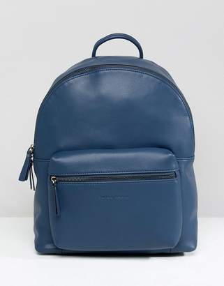 Smith And Canova Leather Backpack With Contrast Straps
