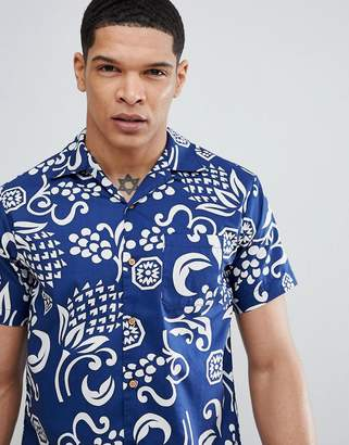 Replay pineapple hawaiian short sleeve shirt