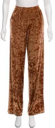 Tibi Velvet Wide-Leg Pants