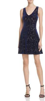 AQUA Velvet Brocade V-Neck Dress - 100% Exclusive $98 thestylecure.com