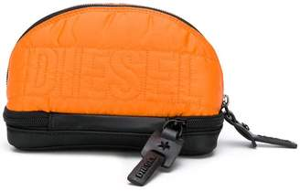 Diesel logo quilted purse