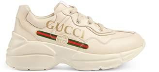 Gucci Children's Rhyton logo leather sneaker