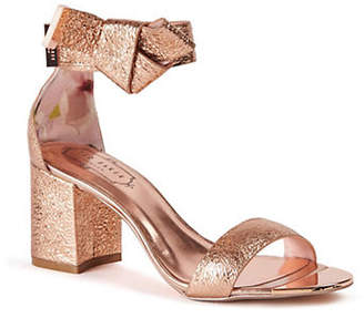 3867f7cf3bf at The Bay · Ted Baker Kerria Leather Block Heel Sandals