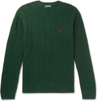 Mens Crew Neck Cashmere Cable Knit Sweater Shopstyle Uk