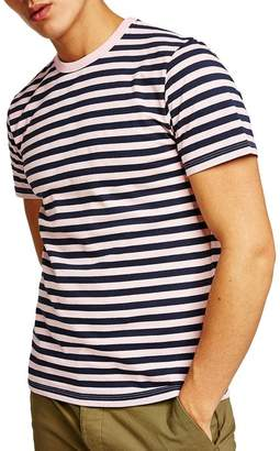 Topman Short Sleeve Slim Fit Striped T-Shirt