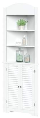 URBAN RESEARCH RiverRidge Home Corner Linen Cabinet with Shutter River Ridge