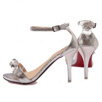 955ea5c5cbe WANabcMAN Pumps-shoes WANabcMAN Comfortable Women s Bows Ankle Strap Buckle  Open Toe Sexy Red Sole