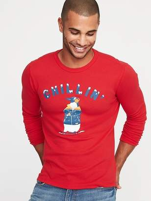 Old Navy Graphic Thermal-Knit Tee for Men