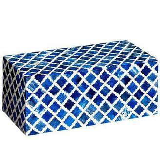 Mela Artisans Fantasy Box Small in Indigo & White