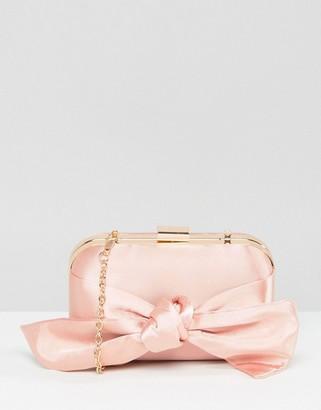 Asos WEDDING Bow Box Clutch Bag