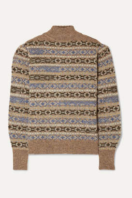 Etoile Isabel Marant Ned Fair Isle Wool Sweater - Tan
