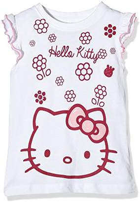 Hello Kitty Girl's Flowers Short Sleeve Crew Neck T-Shirt,(Manufacturer Size:Large)