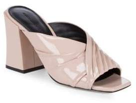 Sigerson Morrison Ruched Patent Leather Mules