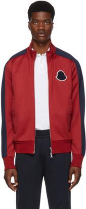 Moncler Red Cardigan Track Jacket