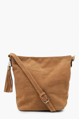 boohoo Suedette Bucket Cross Body